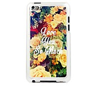 Flowers Leather Vein Pattern PC Hard Case for iPod touch 4