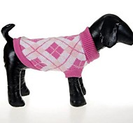 Dog Sweater Blue / Pink Winter Plaid/Check