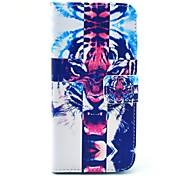Полный Дело Тело взревел картина тигр искусственная кожа для Iphone 6