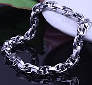 Herrenmode Persönlichkeit Titan Stahl Silber polyzyklische Armbänder