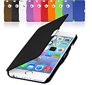 pu leather magnetic flip hard case cover for iphone 6 plus (assorted colors)