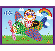 EVA Dot Mosaic 3D Stickers Children Hand DIY Penguin Pilot Toy