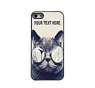 персонализированные случае развратный кот дизайн корпуса металл для iPhone 5/5 секунд