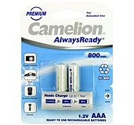 Camelion AlwaysReady 800mAh Low Self-discharge Ni-MH AAA Rechargeable Battery (2pcs)