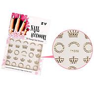 1PCS Sweet Gold Fashion Sparkling Mix Design Nail Art Stickers(Crown)