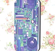 Special Grains Electronic Circuit Pattern PU Full Body Case with Card Slot for iPhone 5/5S