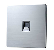 Computer Network Module Sockets Wall Plate - Stainless Steel