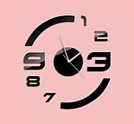 """30 """"h stile moderno nuovo semplice orologio da parete specchio circolare in acrilico"""