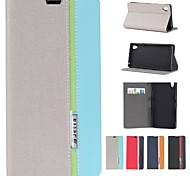 Assorted Color PU Leather Full Body Case with Stand and Card Slot for Sony-Ericsson L39h Xperia Z1 (Assorted Colors)