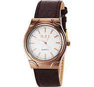 estilo de negocios de la mujer grande Reloj de pulsera vestido de muñeca de la venda de la PU (colores surtidos)