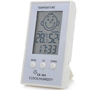 "Face Pattern 2.3"" LCD Smart Electronic Thermometer  Hygrometer for Baby Room"