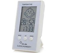 """patrón de la cara 2.3 """"lcd inteligente higrómetro termómetro electrónico para la habitación del bebé"""