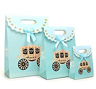 Coway 3Pcs Blue Pumpkin Car Fastener Bag Cartoon Fashion Party Paper Gift Bag Set