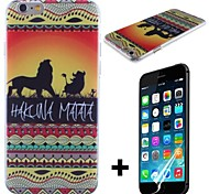 Hakuna Matata on Sunset Lion King Pattern Hard with Screen Protector Cover for iPhone 6