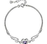 I FREE SILVER®Women's S925 Sterling Silver Chain & Link Bracelets 1 pc