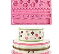 Button Lace Baking Fondant Cake Chocolate Candy Mold,L20cm*W13.5cm*H0.7cm