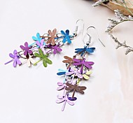 Fashion Copper Dragonfly Drop Earrings for Women(Multicolor)