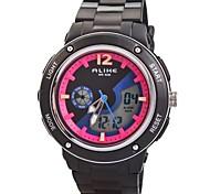 Kinder zwei Zeitzonen PU-Band Multifunktions-LED Sport-Armbanduhr 50m wasserdicht (verschiedene Farben)