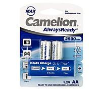 camelion AlwaysReady 2500mah faible auto-décharge la batterie Ni-MH rechargeables AA (x2)