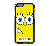 Personalized Case Cartoon Yellow Design Metal Case for iPhone 6 Plus