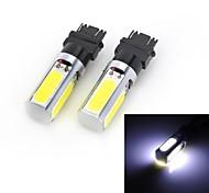 Marsing High Power T25 20W 1800Lm 6500K 4-COB LED Cool White Light Car Brake / Running Lamps (12V / 2 PCS)