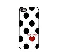 caixa personalizada pontos elegantes caso design de metal para iPhone 5 / 5s