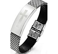 Z&X®  Men's Fashion Personality Cross Pattern Titanium Steel Bracelets