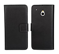 Solid Color Pattern Genuine Leather Full Body Case with Stand and Card Slot for HTC One Mini M4