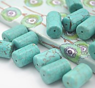 Toonykelly®Cylinder Natural Turquoise DIY Beads 30Pc/Bag