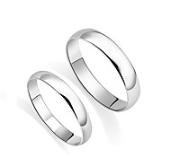 I FREE SILVER®Fashion S990 Sterling Silver Couple Rings 2 pcs Promis rings for couples