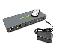 v1.4 hdmi interruptor ce-enlace de alta velocidad 4x1 matriz hdmi (4 en 1) con el apoyo switcher HEAC 3d 1080p