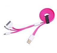 1,2 m 4 pies usb / 8-pin cable de sincronización cargo usb 3-en-1 de micro / 30-pin