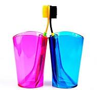 multifuncional color del caramelo taza de cepillo de dientes y cepillo de dientes de rack (color al azar)