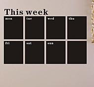 stickers muraux Stickers muraux, tableau noir, tableau noir semaine muraux PVC autocollants