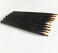 10Pcs Plastic Handle Lip Brush