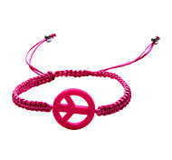 Fashion Plaited Peace Sign Adjustable Bracelet