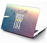 la musica è il design vita custodia in plastica protettiva per tutto il corpo per 11 pollici / 13 pollici aria nuovo macbook