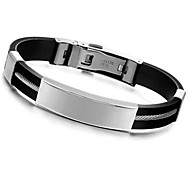 Z&X®  Men's Fashion Personality Smooth Surface Titanium Steel Bracelets Jewelry