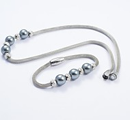 Fashion Titanium Steel Charming Beads Snake Chain Necklace and Bracelets Sets