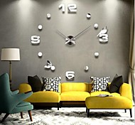 "39""W DIY 3D Mirror Acrylic Sticker Wall Clock"