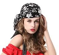 Black Pirates Skeleton Hip Hop Halloween Party Headpiece