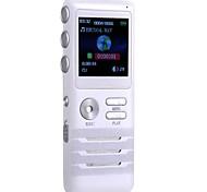 4GB Zinc Alloy Die Cast Digital Voice Recorders Dual-core Stereo Noise Reduction Recording White