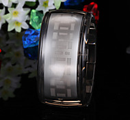 Men's Watch Digital Blue LED Digital Plastic Band Wrist Watch Cool Watch Unique Watch