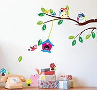 ZOOYOO® Removable bird play on the tree of  Wall Stickers Hot Selling Wall Decals For Home Decor