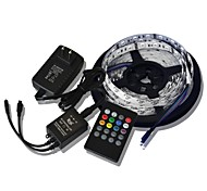 5M 300x5050 SMD Music Light Strips RGB Flexible LED Light Strips +  20key Music Remote Control + 2A Power  (AC110-240V)