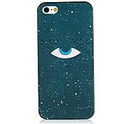 Eye Pattern Black Frame Back Case for iPhone 5/5S