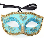 Multicolor Golden Side PS Half Face Halloween Party Mask