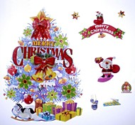 42*26cm Fancy Christmas Decoration Christmas Tree Stickers