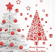 zooyoo® bonito pvc imagem árvore colorida removível vermelho do Natal de adesivos de parede adesivos de parede de venda quente para a