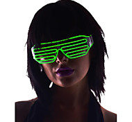 Light Up Shades Glasses with Green EL Wire LED Glow Sunglasses 2AA Batteries